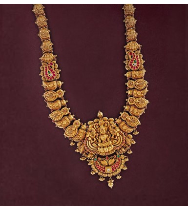 Yellow Gold Nakshi Haar Necklace