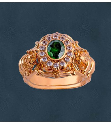 Diamonds And Emberald Ring