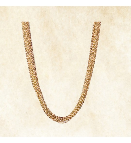Pearls bunch yellow gold necklace